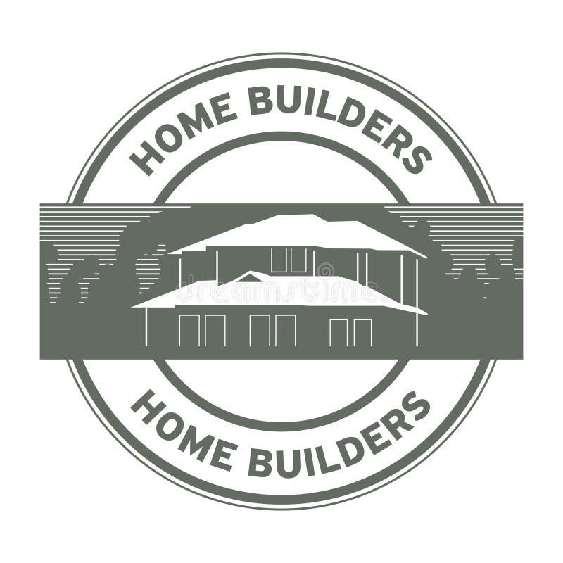 Штемпель или знак построителей дома иллюстрация штока