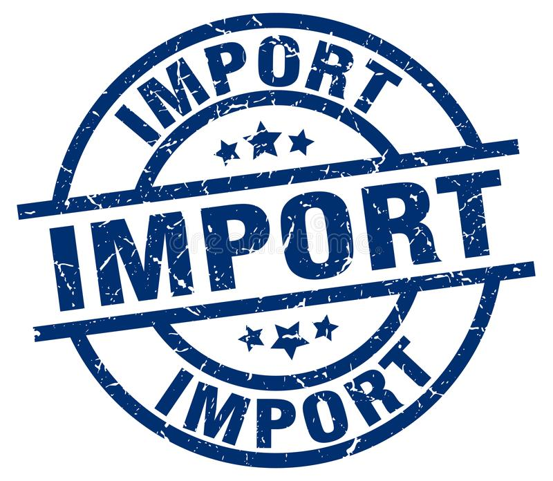 Штемпель импорта иллюстрация вектора