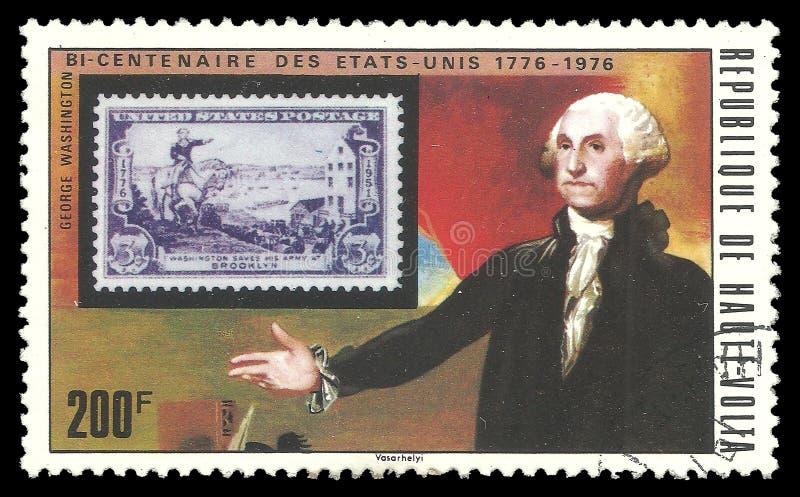 Штемпель и Джордж Вашингтон США стоковое изображение rf