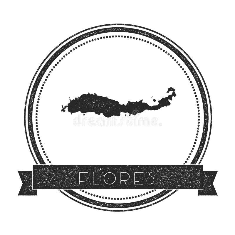 Штемпель карты Flores иллюстрация вектора