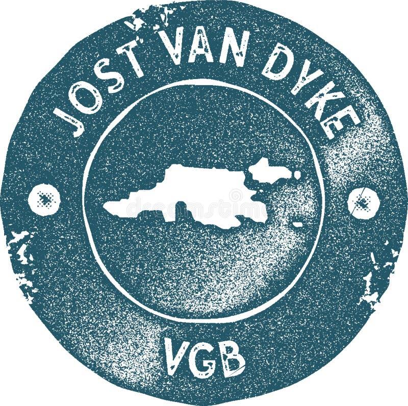 Штемпель карты Jost Van Дейки винтажный бесплатная иллюстрация