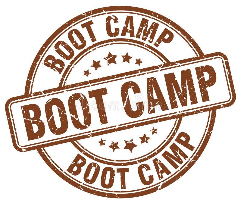 штемпель коричневого цвета лагеря ботинка иллюстрация штока