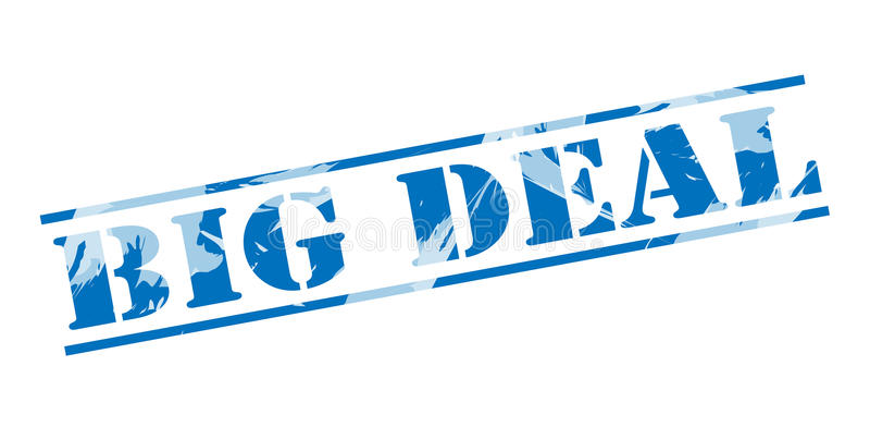 Штемпель крупной сделки голубой бесплатная иллюстрация