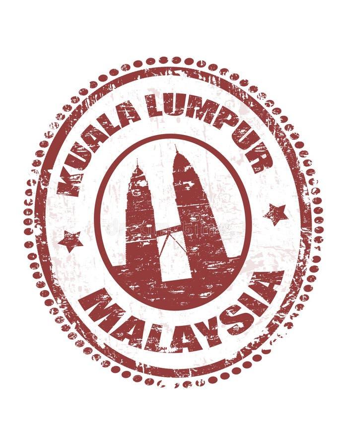 штемпель Куала Лумпур Малайзии иллюстрация штока