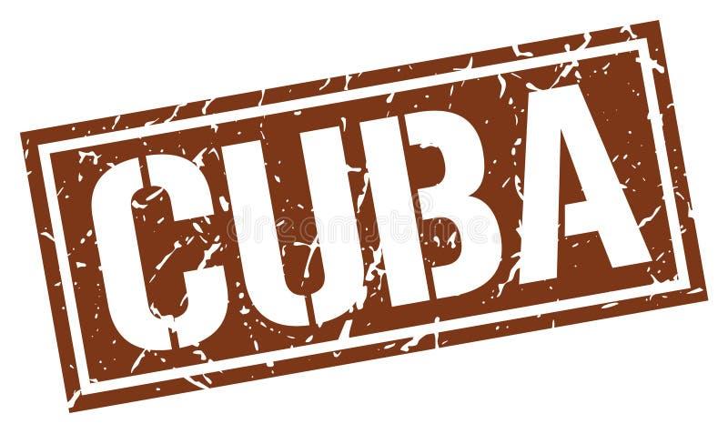 Штемпель Кубы иллюстрация штока