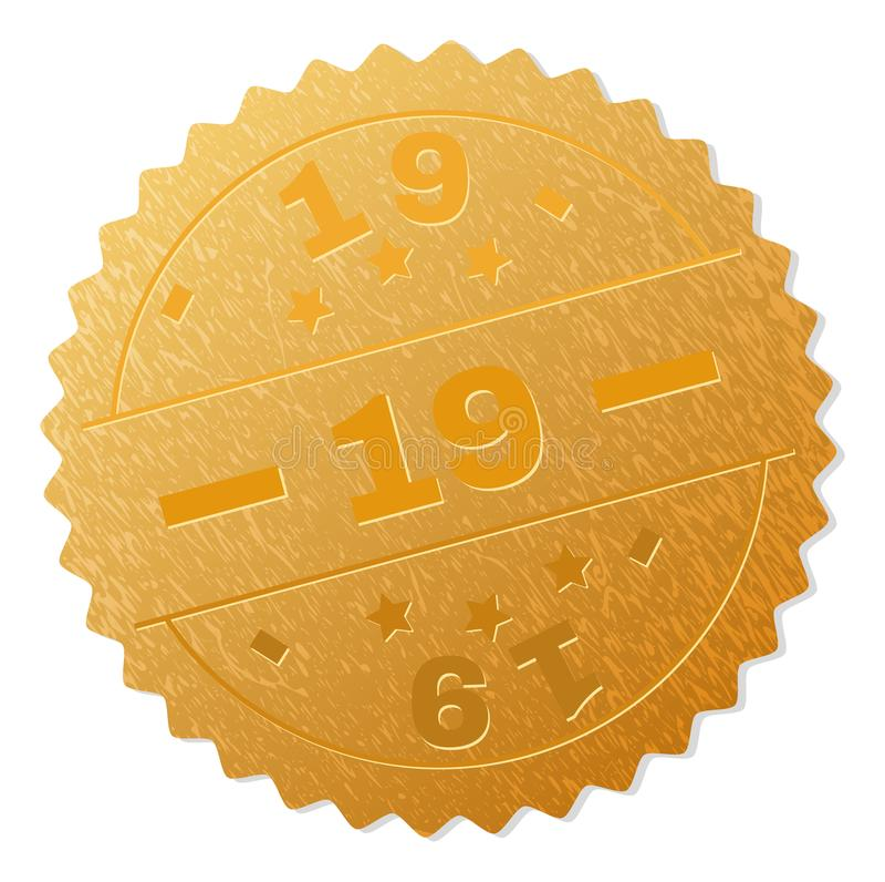 Штемпель медали золота 19 иллюстрация штока
