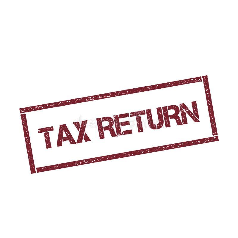 Штемпель налоговой декларации прямоугольный бесплатная иллюстрация