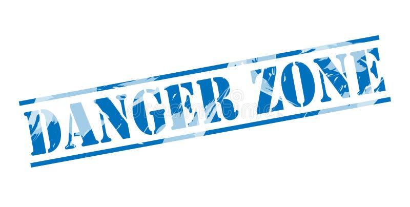 Штемпель опасной зоны голубой бесплатная иллюстрация