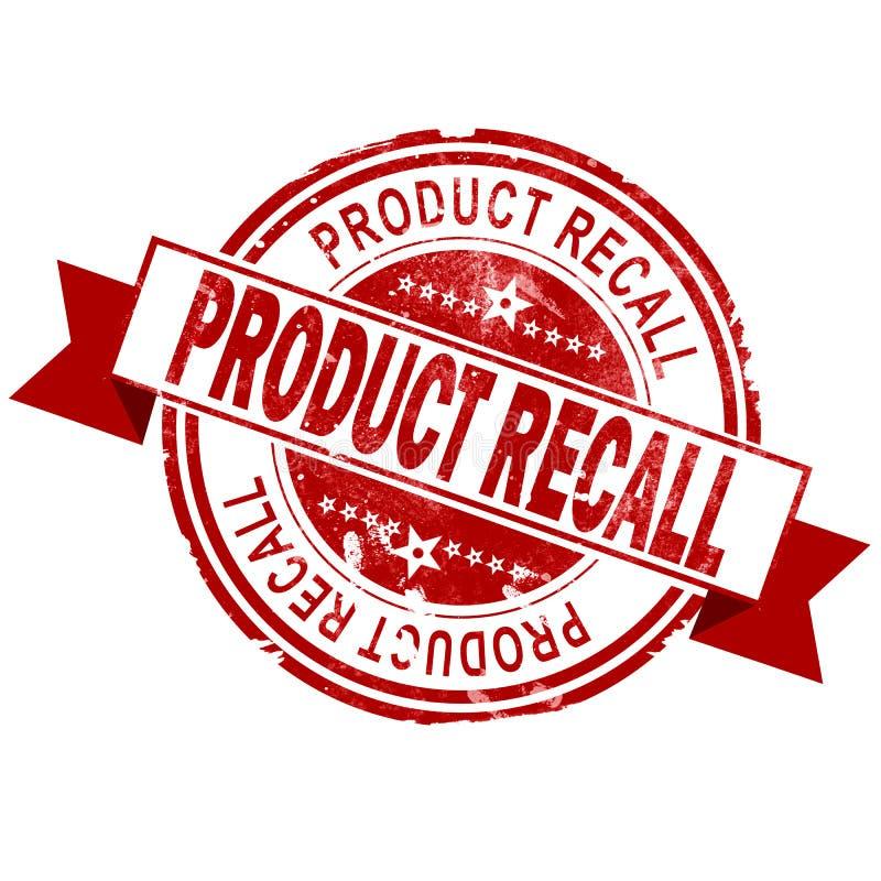 Штемпель отзыва продукции красный винтажный иллюстрация вектора