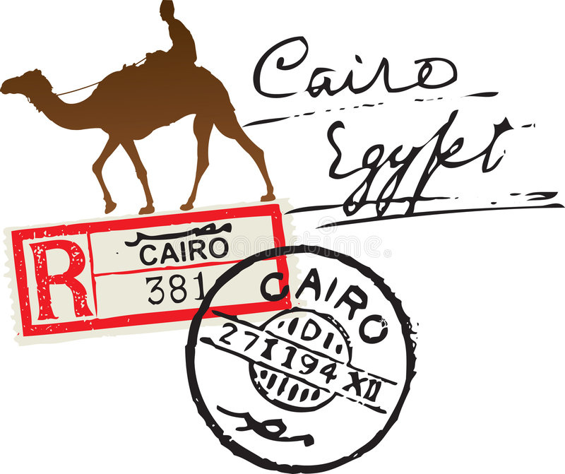 Штемпель почтоваи оплата Египета