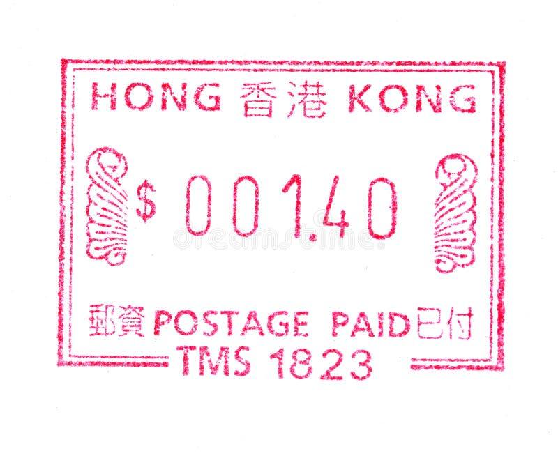 штемпель почтоваи оплата Hong Kong стоковое фото rf