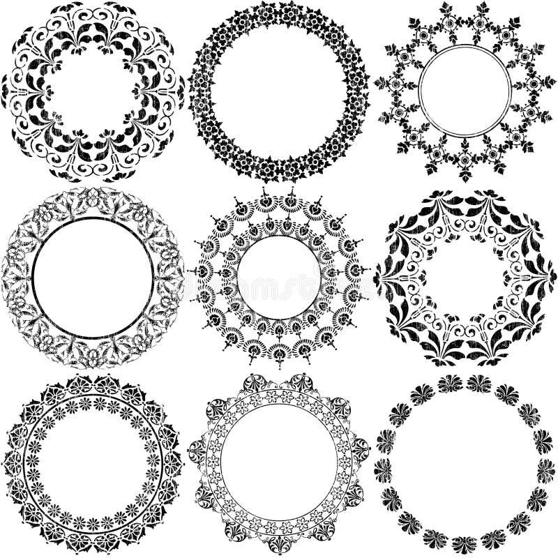 штемпель приукрашиваний круга декоративный бесплатная иллюстрация