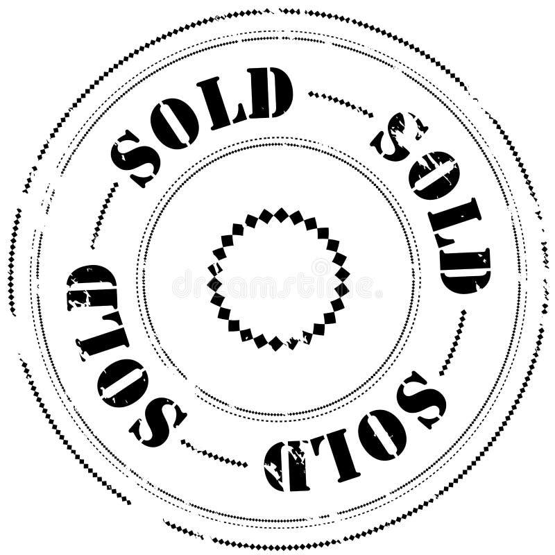 штемпель проданный резиной иллюстрация штока