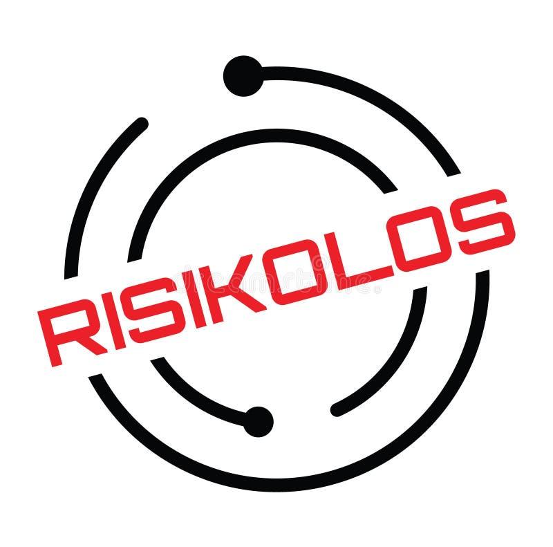 Штемпель риска свободный в немце иллюстрация штока