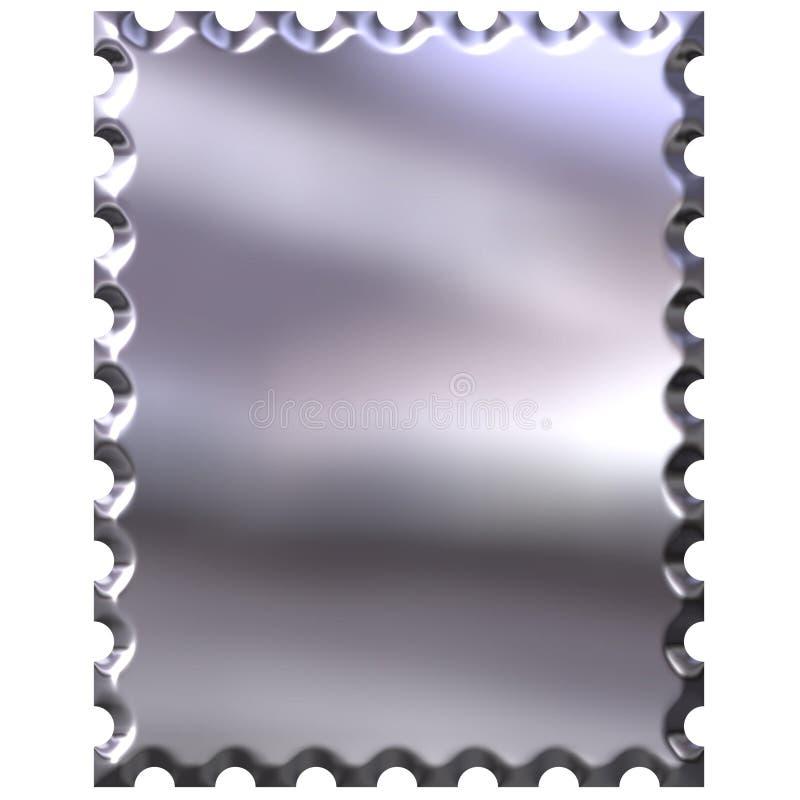 штемпель серебра 3d иллюстрация вектора