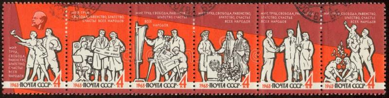 штемпель серии почтоваи оплата животных русский стоковое изображение rf