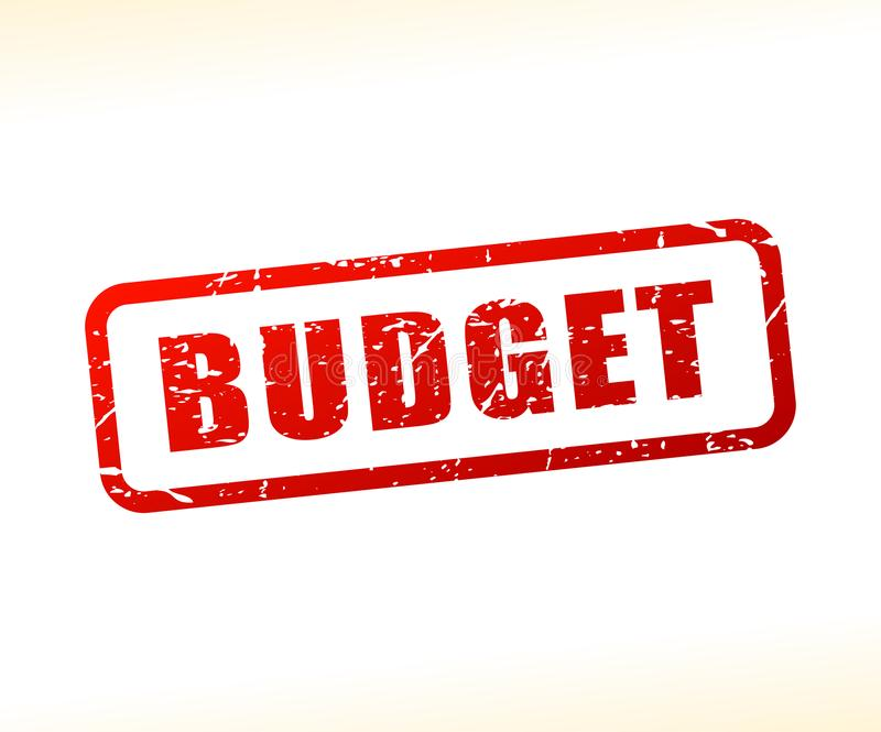Штемпель текста бюджета бесплатная иллюстрация