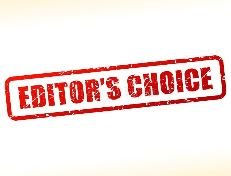 Штемпель текста редакторов отборный иллюстрация вектора