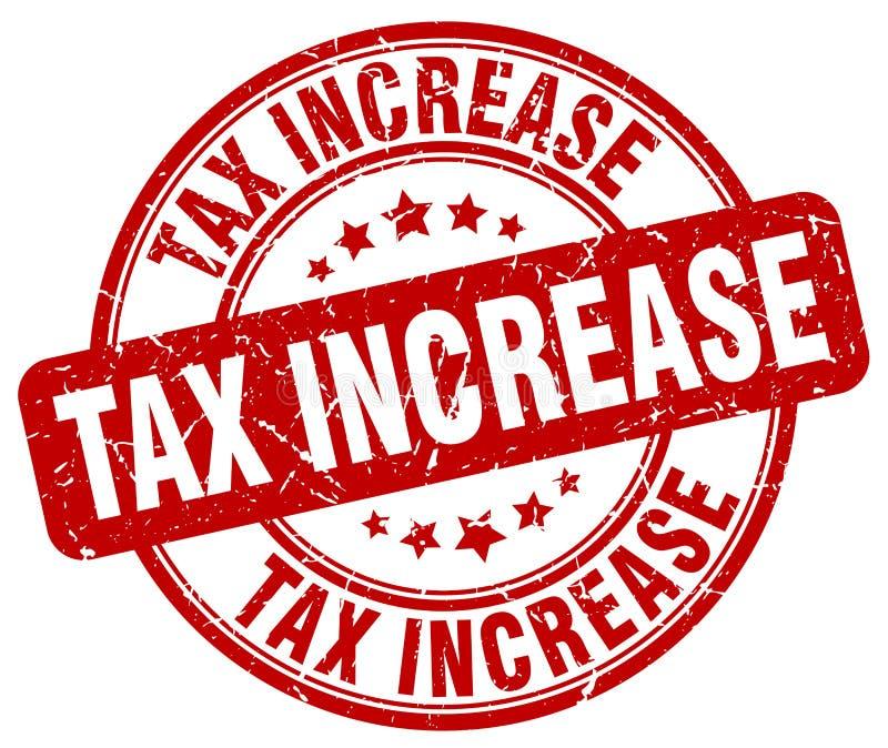 штемпель увеличения налога красный бесплатная иллюстрация