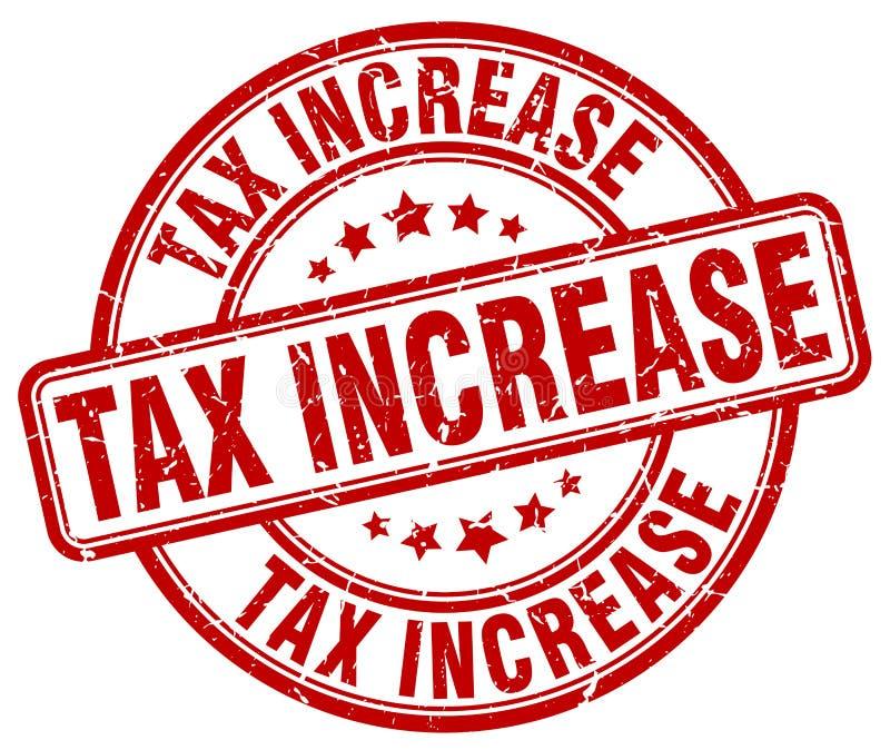 штемпель увеличения налога красный иллюстрация штока