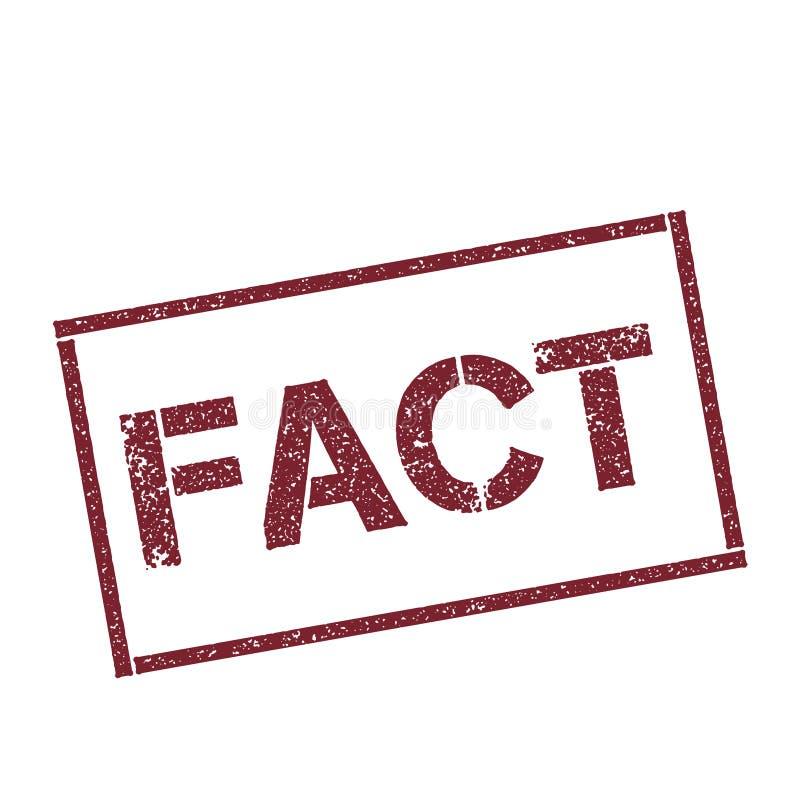 Штемпель факта прямоугольный иллюстрация штока