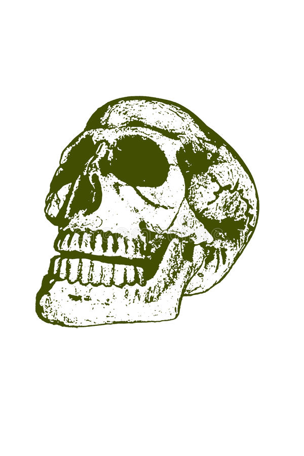 штемпель черепа halloween стоковое фото