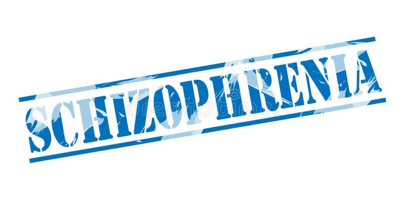 Штемпель штемпеля шизофрении голубой иллюстрация вектора