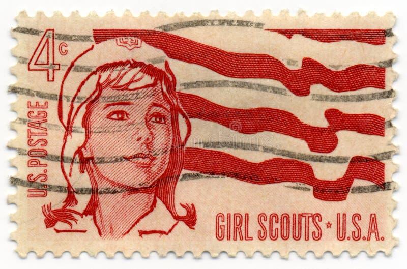 штемпель 1962 девочка-скаута стоковое фото