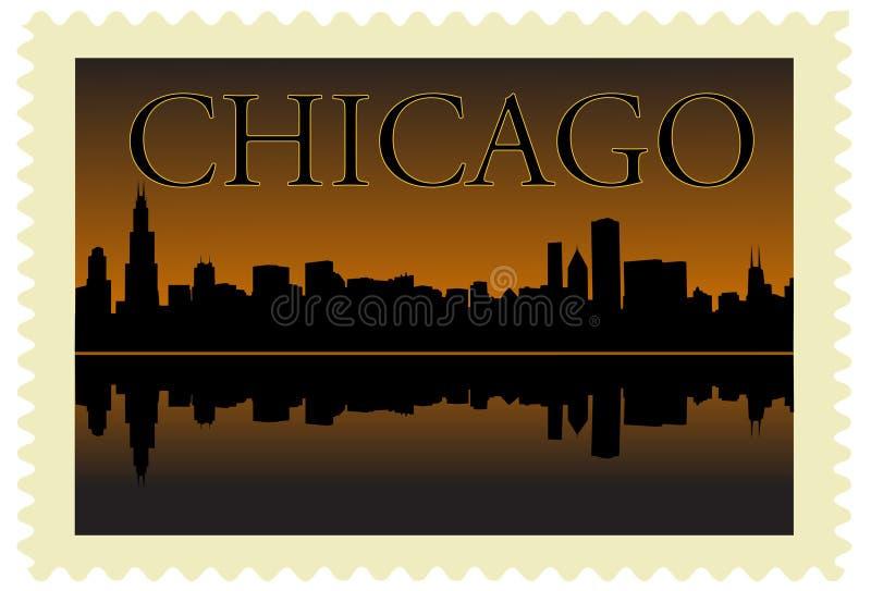 штемпель chicago иллюстрация штока