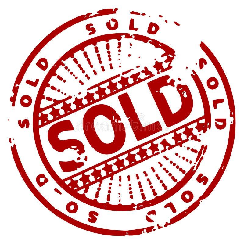 штемпель grunge проданный чернилами бесплатная иллюстрация