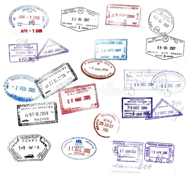 штемпелюет визу бесплатная иллюстрация