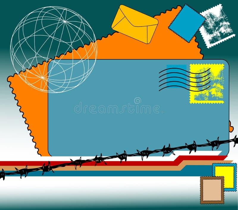 штемпеля габаритов иллюстрация вектора