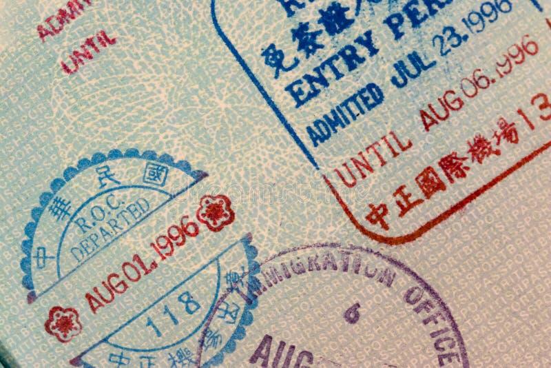 штемпеля пасспорта фарфора стоковая фотография rf
