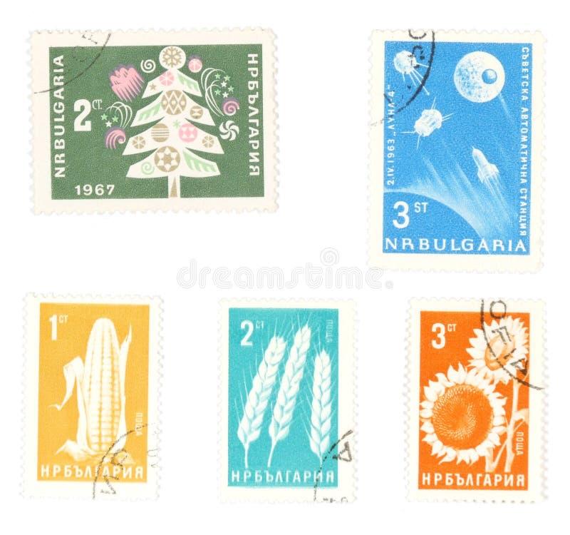 штемпеля почтоваи оплата Болгарии collectible стоковые фото