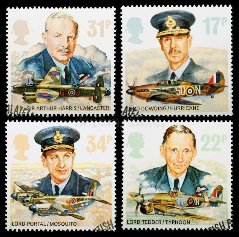 Штемпеля почтоваи оплата военно-воздушных сил Великобритании стоковые изображения