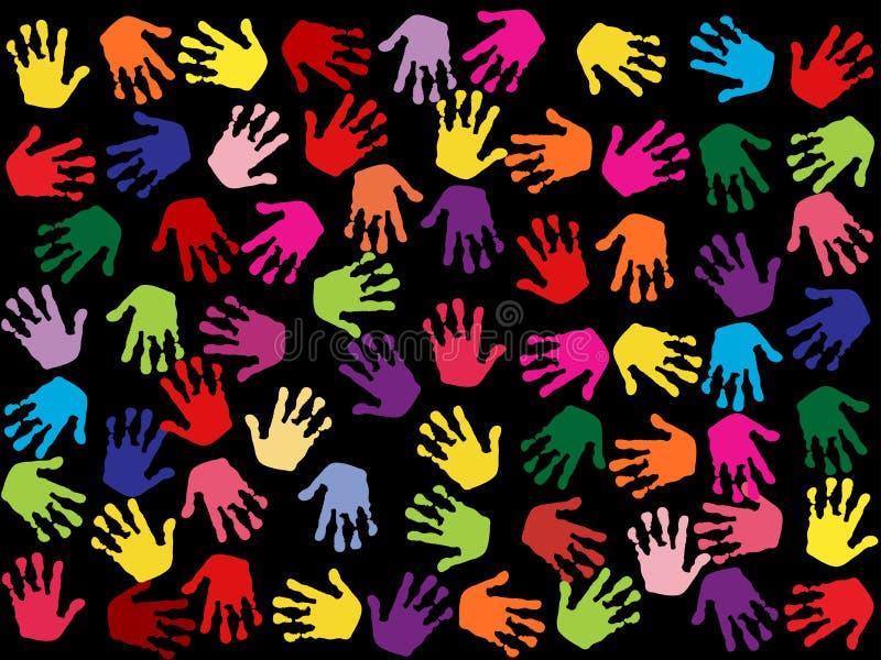 штемпеля цветастой руки предпосылки безшовные бесплатная иллюстрация