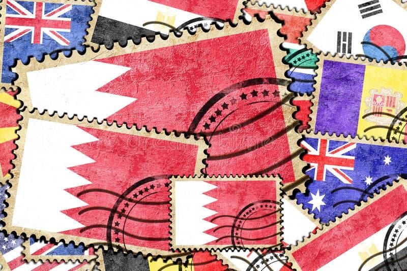 Штемпель Бахрейна винтажный почтовый стоковое фото rf