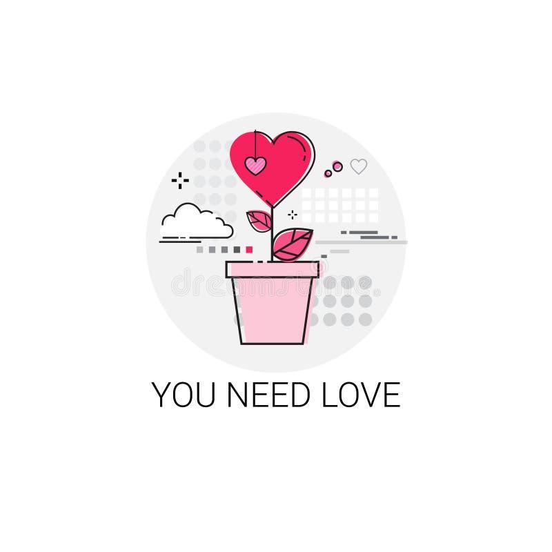 Штемпель значка влюбленности праздника карточки подарка дня валентинки иллюстрация вектора