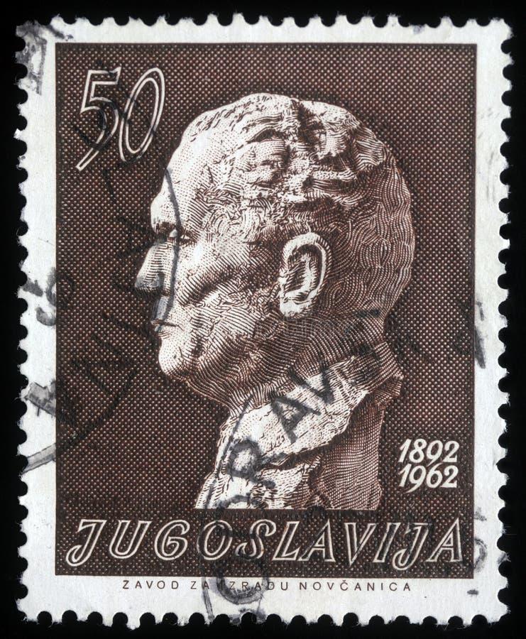 Штемпель напечатанный в Югославии показывает Josip Broz Tito стоковое фото