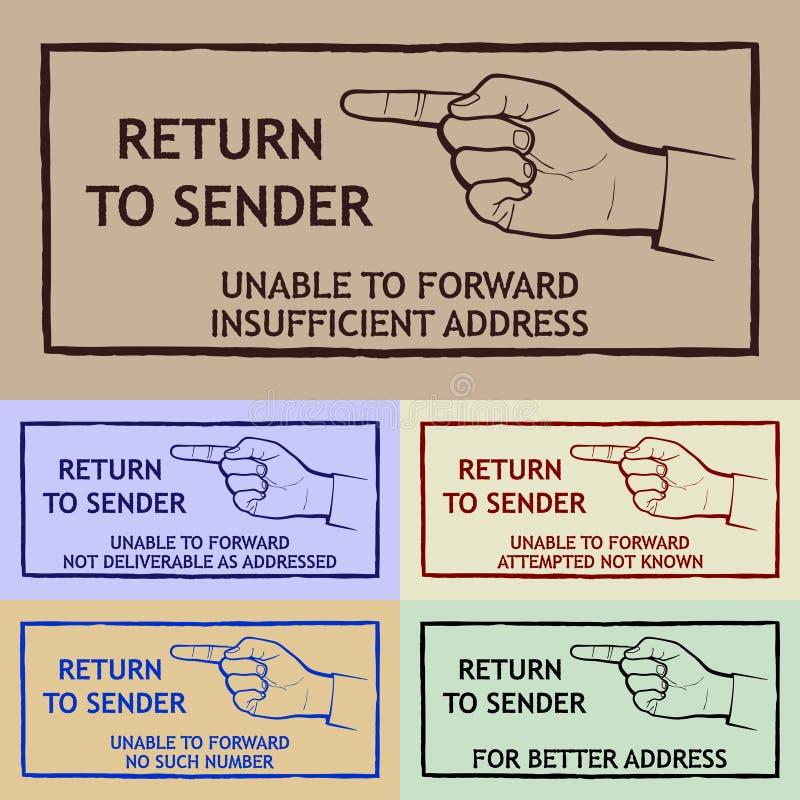 Штемпель доставки почты иллюстрация вектора