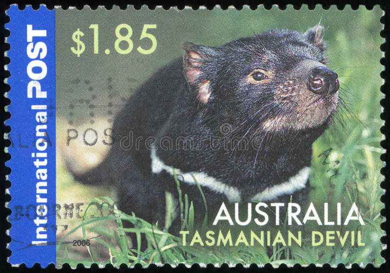 Штемпель почтового сбора Австралии стоковая фотография