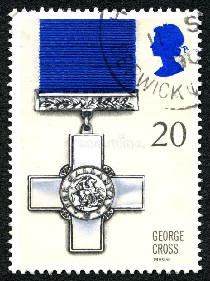Штемпель почтового сбора Великобритании креста Джордж стоковые изображения