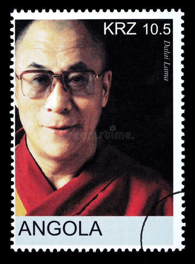 Штемпель почтового сбора Далай-ламы стоковая фотография
