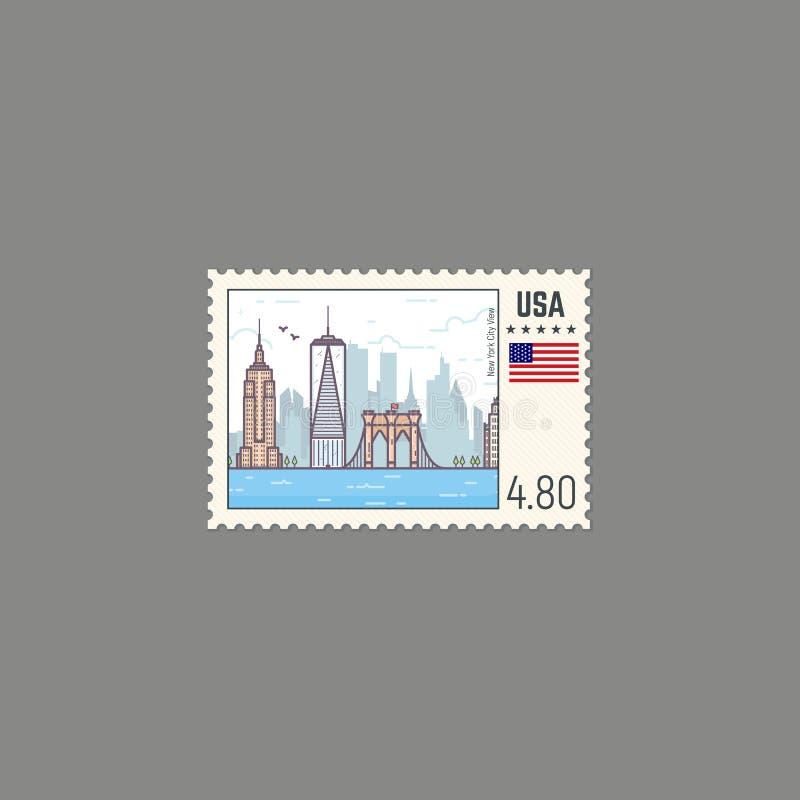 Штемпель почтового сбора Нью-Йорка бесплатная иллюстрация
