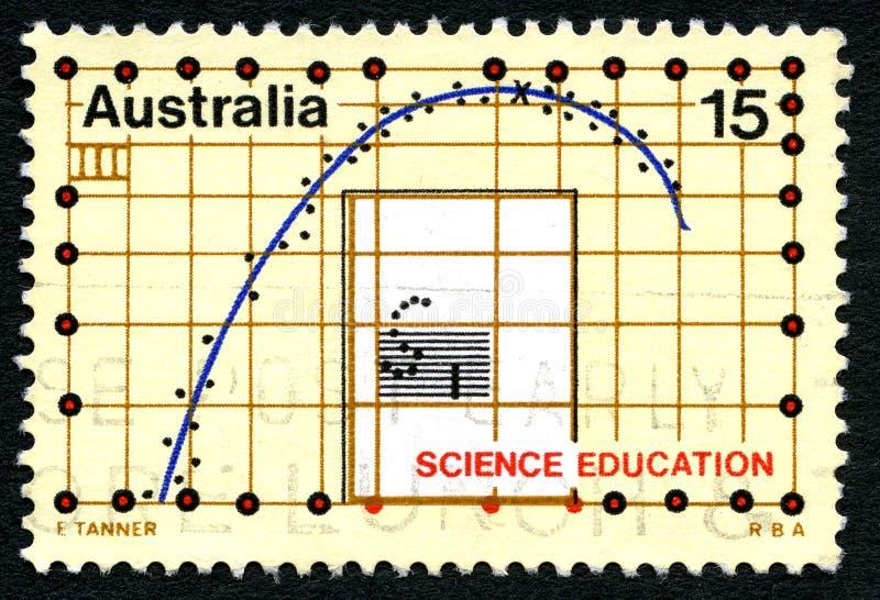 Штемпель почтового сбора образования науки австралийский стоковые изображения rf