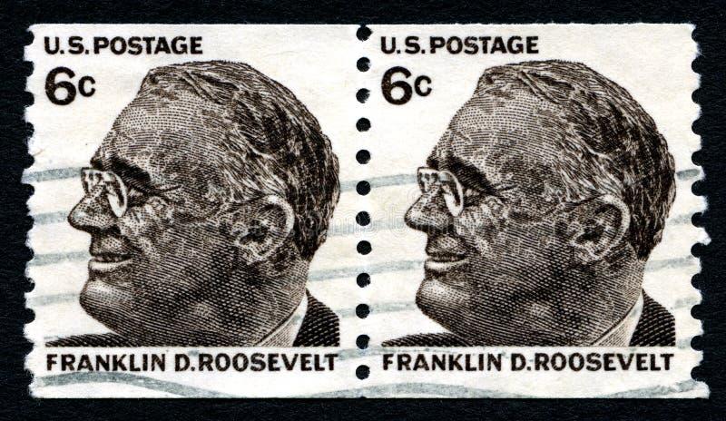 Штемпель почтового сбора Франклина d Рузвельта США стоковое изображение