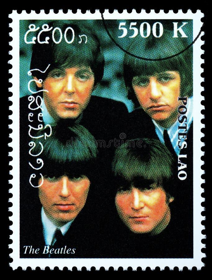 Штемпель почтового сбора Beatles стоковая фотография rf