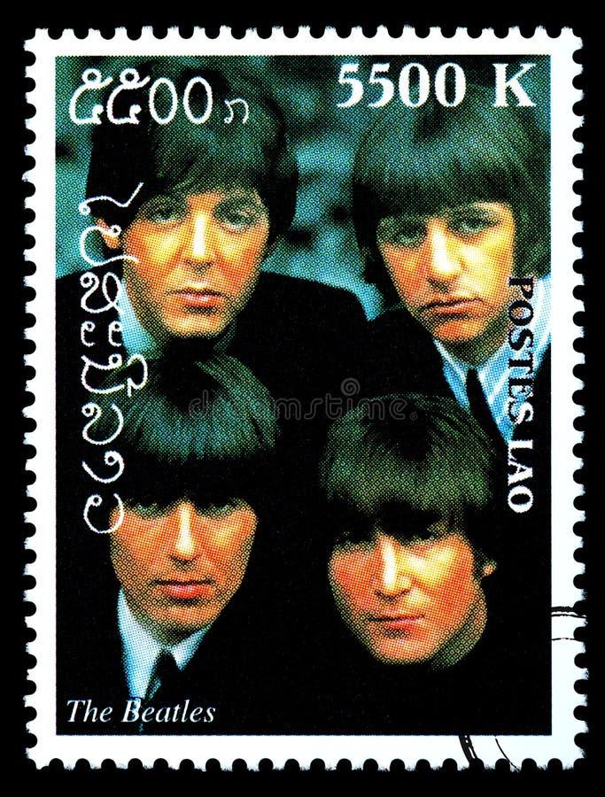 Штемпель почтового сбора Beatles стоковая фотография