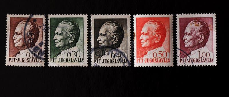 Штемпель почтового сбора Josip Broz Tito стоковое изображение
