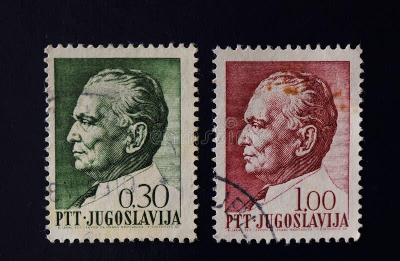 Штемпель почтового сбора Josip Broz Tito стоковые изображения rf